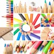 Royalty-Free Stock Photo: Colored pencil collage