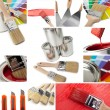 Stock Photo: Renovate and Painting collage