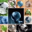 Glas Globe Collage — Foto Stock