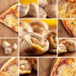 Stock Photo: Pizza fast-food collage