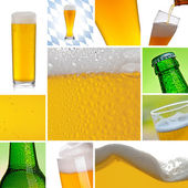 Collage di alcol birra — Foto Stock