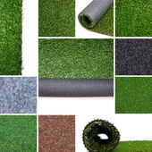 Artificial turf Collage — Stock Photo