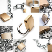 Padlock Collage — Stock Photo
