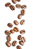 Brown Coffee Beans on white background — Stock Photo