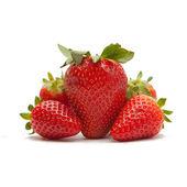 Red strawberries on white backgorund — Stock Photo