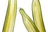 Grüner salat-gurken-streifen — Stockfoto