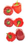 红辣椒粉一套 — 图库照片