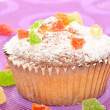 Stock Photo: Close up of sugary muffin cupcake