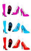 Tags: Shoes siluette — 图库矢量图片