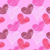 Seamless heart background — Stock Photo