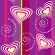 Seamless heart and swirl background - Stock Photo