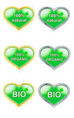 Set of labels for natural products bio, organic, natural — Stock Photo