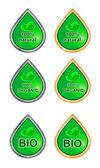 Uppsättning etiketter för naturliga produkter bio, ekologisk, naturlig — Stockfoto