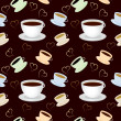 Seamless vector pattern with cup of coffee — Stock Photo #8618679