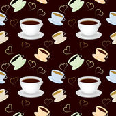 Seamless vector pattern with cup of coffee — Stock Photo