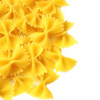 Italian pasta, farfalle isolated on white background — Stock Photo