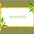 Royalty-Free Stock Photo: Bamboo frameon bamboo background