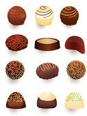 Mix of chocolate candies — Stock Photo