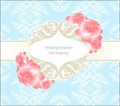 Wedding blue seamless background with flower — Stock Photo
