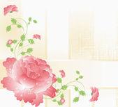 Fondo de boda con flores y hojas verdes — Foto de Stock