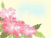 Wedding blue background with flower — Stock Photo