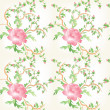 Stock Photo: Roses flower seamless pattern backgorund