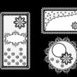 Set of vintage lace backgrounds with frame — Stock Photo
