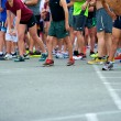 Stock Photo: Runners Starting Line