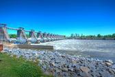 River Lock and Dam — Stock Photo
