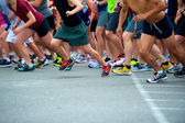 Joggers Start Race — Stock Photo
