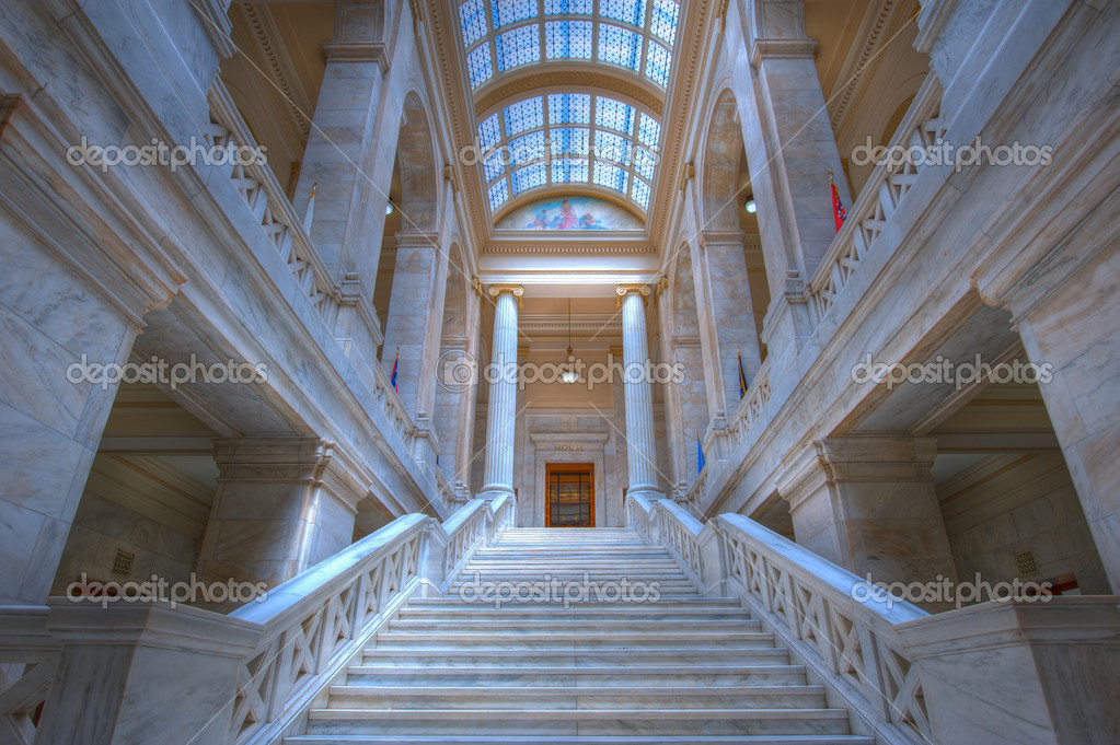 Marble steps leading to the state house of representatives. — Stock Photo #10430556