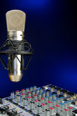 Mixer and Vocal Mic — Stock Photo