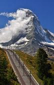 Matterhorn con ferrocarril — Foto de Stock