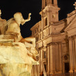 Night view of Navona square - Stock Photo