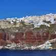 Thira village on top of the cliffs in Santorni, Greece — Stock Photo