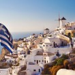 Scenic view from Oia, Santorini, Greece — Stock Photo