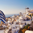 Stock Photo: Scenic view from Oia, Santorini, Greece