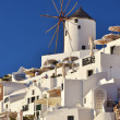 Traditional Windmill in Oia, Santorini, Greece — Stock Photo