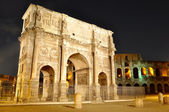 Arch of Constantine near the Colosseum — Stock Photo