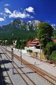 Bucegi mountain view, Busteni, Romania — Stock Photo