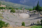 The theatre from Delphi, seen from above — Stock Photo