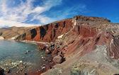 Red beach santorini island, yunanistan — Stok fotoğraf