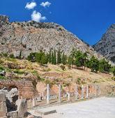 Greeks ruins at Delphi — Stock Photo