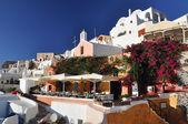 Pěkná zahrada v oia santorini, řecko — Stock fotografie