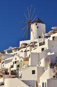 Traditional Windmill in Oia, Santorini, Greece — Stock Photo