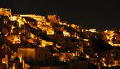 Oia w nocy, santorini, grecja — Zdjęcie stockowe