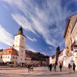 Stock Photo: Council square, Brasov, Romania