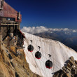Aiguille du Midi cable car station — Stock Photo #8867645