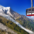 Aiguille du Midi cable car in Chamonix — Stock Photo #8867670