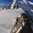 Stock Photo: Mont Blanc Massif Panoramic View